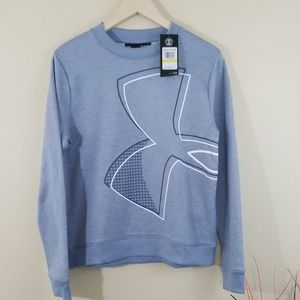 NEW Under Armour Blue Crewneck Pullover Sweater